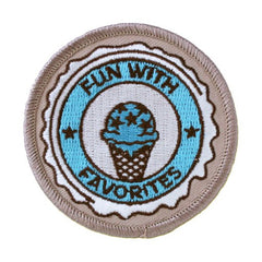 Geocaching Road Trip '15 Patch: Fun with Favorites - Ground Zero Geocaching Supplies