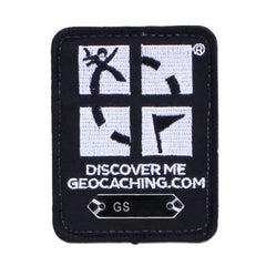 Geocaching Trackable Patch - Black - Ground Zero Geocaching Supplies