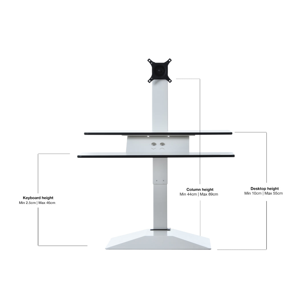 Workstation evolution: The electric Furna E-Top Sit Stand Workstation