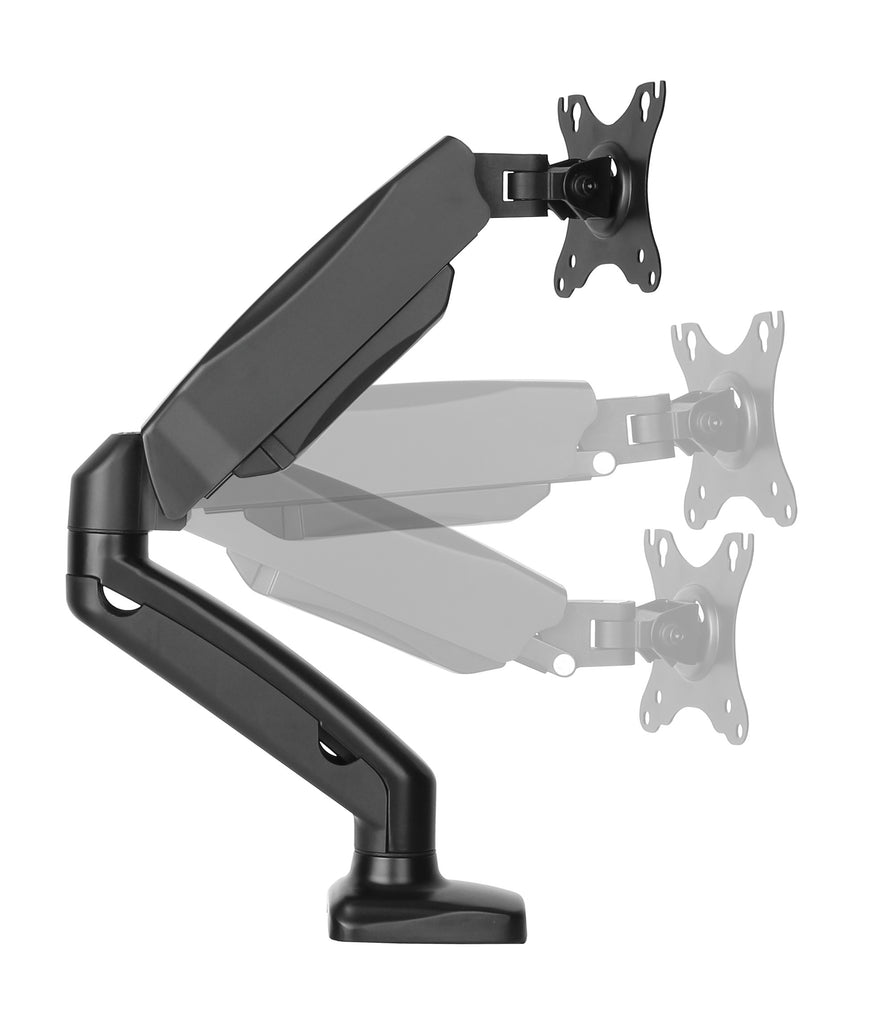 Furna Single Monitor Gas Spring Long Arm Desk Mount