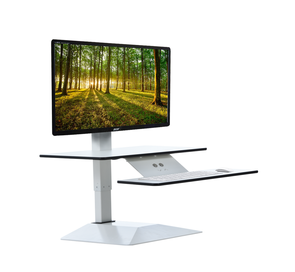 Furna E Top Electric Sit Stand Converter Workstation