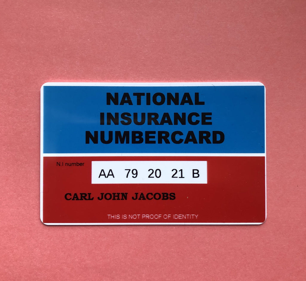 National Insurance Number Card - C1000 Stitches