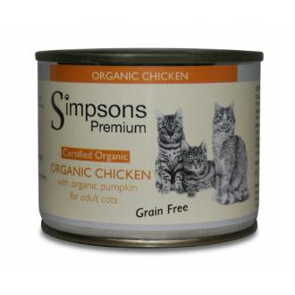 Simpsons Organic Chicken with Pumpkin for Adult Cats