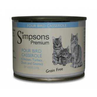 Simpsons Four Bird Casserole for Adult Cats