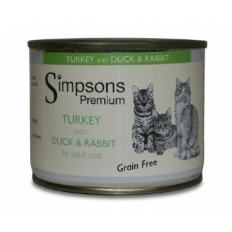 Simpsons Turkey with Duck and Rabbit for Adult Cats