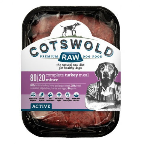 Cotswold Raw Active 80/20 Turkey Mince