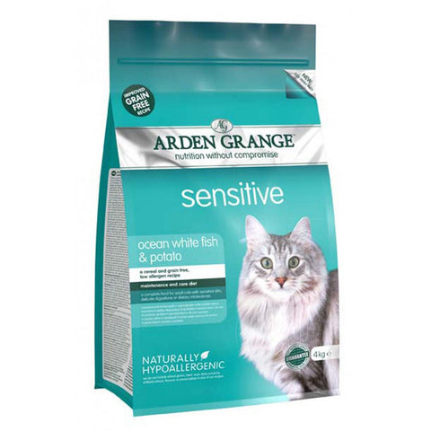 Arden Grange Cat Food Sensitive Ocean White Fish & Potato