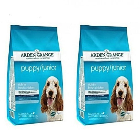 Arden Grange 12kg Bag Deal Dry Dog Food Puppy/Junior Fresh Chicken