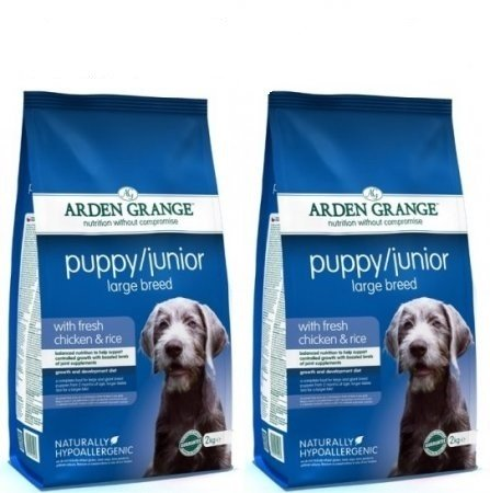 Arden Grange 12kg Bag Deal Dry Dog Food Puppy/Junior Large Breed Fresh Chicken & Rice