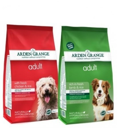 Arden Grange 12kg Bag Deal Adult Dog Food Chicken & Rice & Lamb & Rice