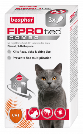 Beaphar FIPROtec COMBO Flea and Tick for Cats