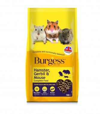 Burgess Hamster, Gerbil & Mouse complete nuggets 750g
