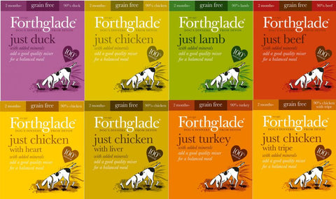Forthglade Just Meat Mixed Box 395g x 18