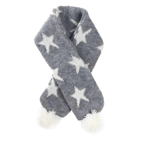 House of Paws Grey Star Christmas Scarf