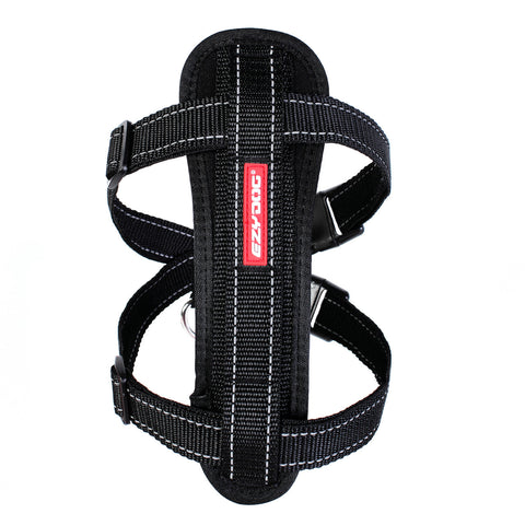 Ezy Dog Chest Plate Dog Harness Black