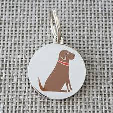 Sweet William ID Tag - Chocolate Labrador