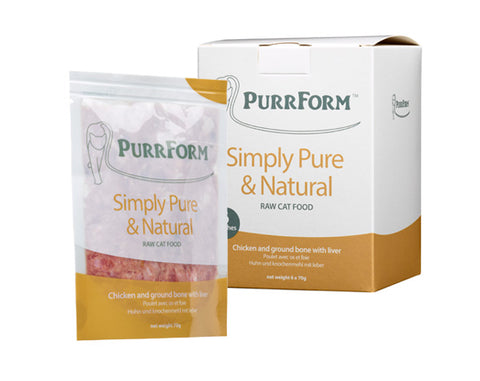 PURRFORM Frozen Chicken & Ground Bone with Liver Complete Adult Cat