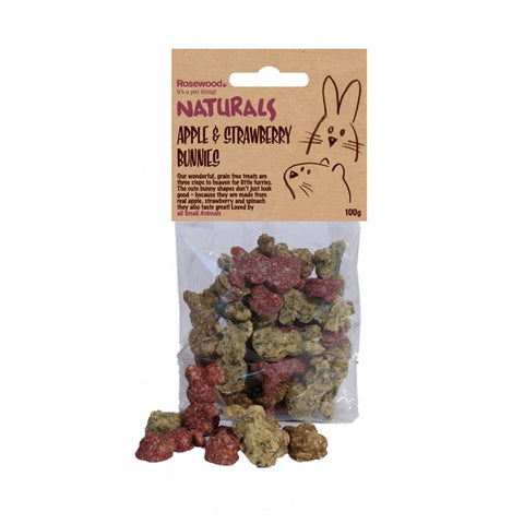 Rosewood Naturals Apple & Strawberry Bunnies