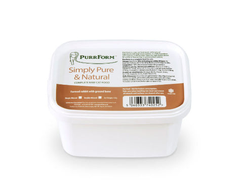 PURRFORM Frozen Double Minced Farm Rabbit and Ground Bone  450g