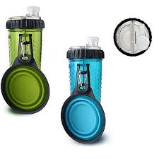 Dexas Collapsible Snack-Duo Bottle