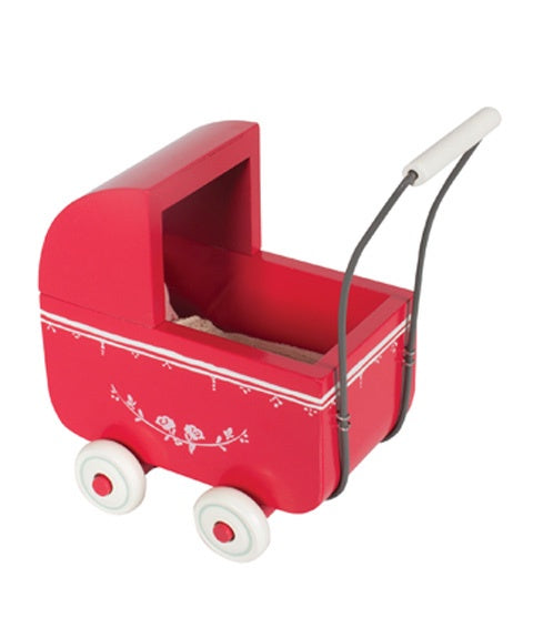 Red Pram Micro by Maileg