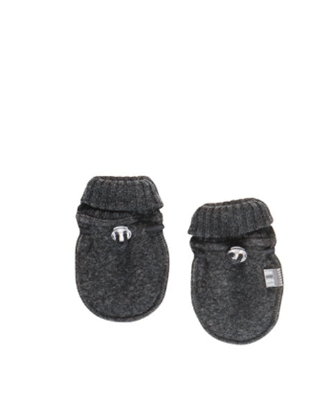 Grey Soft Wool Baby Mittens by Joha