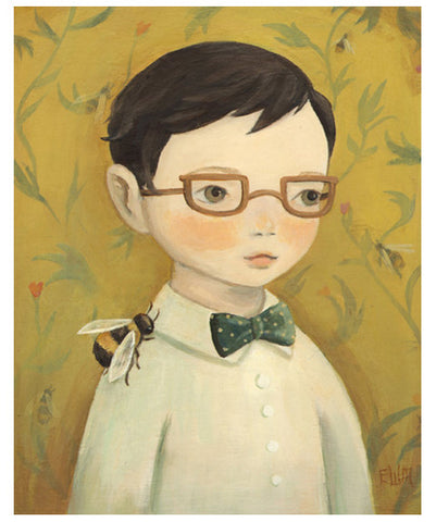 Boy & Bee Print by Black Apple