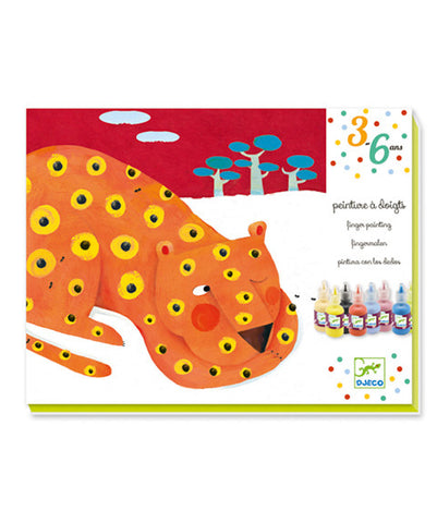 Finger Painting Leopard and Other Animals