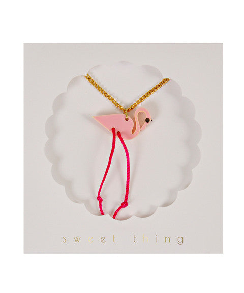 Flamingo Necklace by meri meri