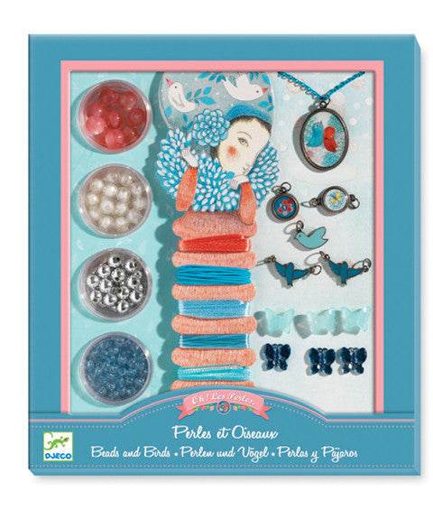 Bead Set - Pearls and birds