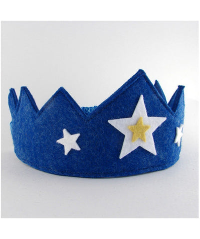 Felt Crown Blue with Star