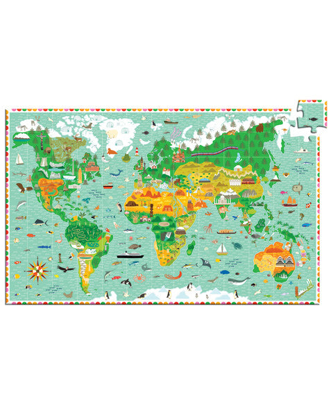 Observation puzzle - Around the World + Booklet
