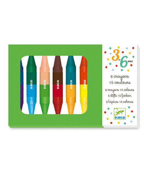 8 twins crayons by Djeco
