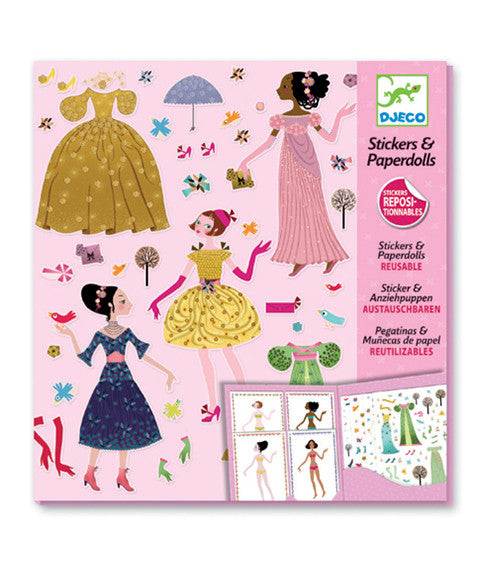 Reusable Stickers - Dresses through the seasons