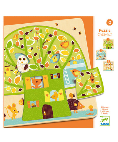 3 layers puzzles - Chez nut