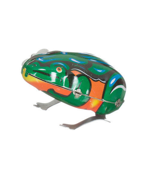 wind up tin frog