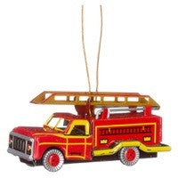 Fire Engine Tin Ornament