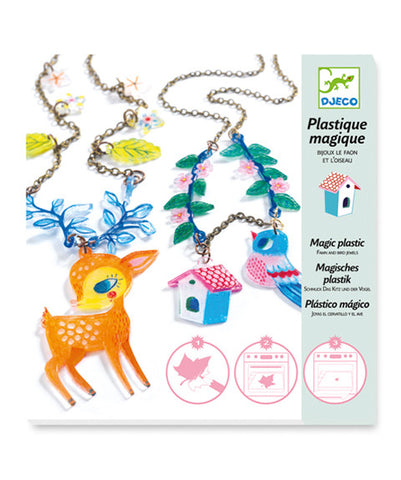 Shrinky Jewels - The Fawn & the Bird