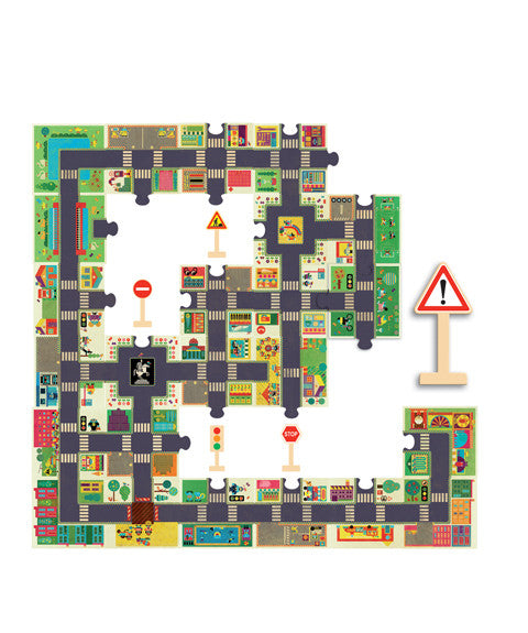 Giant Puzzle - The City by Djeco