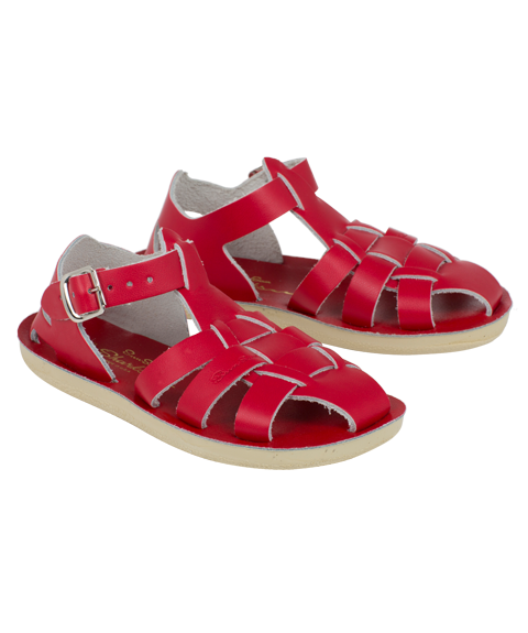 Shark Sandal in Red By Sun-San