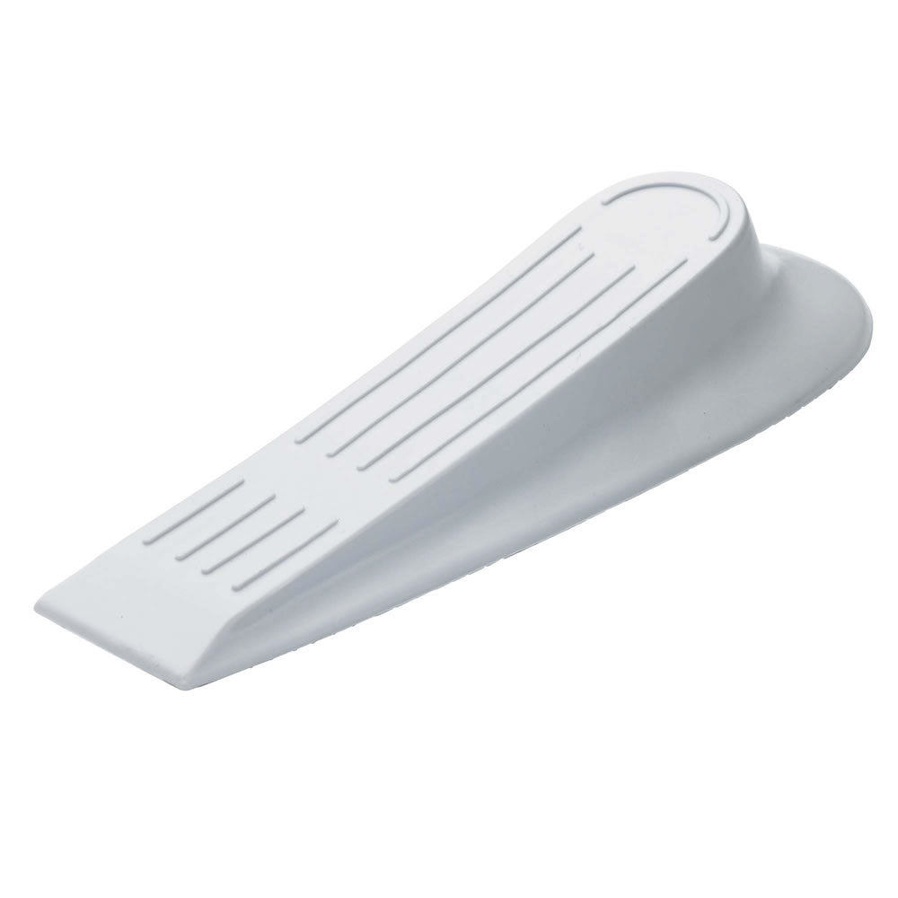 Plastic Door Wedge - White - 125mm (Pack of 2) - RKL Tools & Hardware