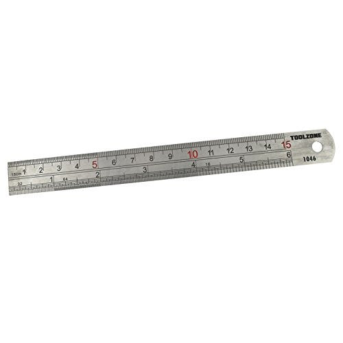 "Toolzone - 6"" Stainless Steel Ruler - RKL Tools & Hardware  - 1"