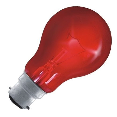 Eveready GLS Fire Glow Bulb - Red - Bayonet Cap B22