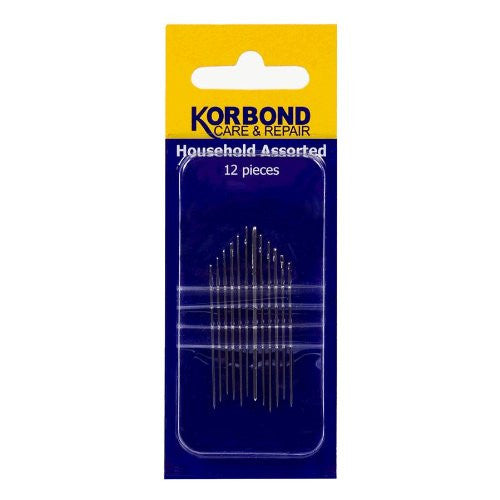 Korbond - 12 Piece Assorted Household Needles