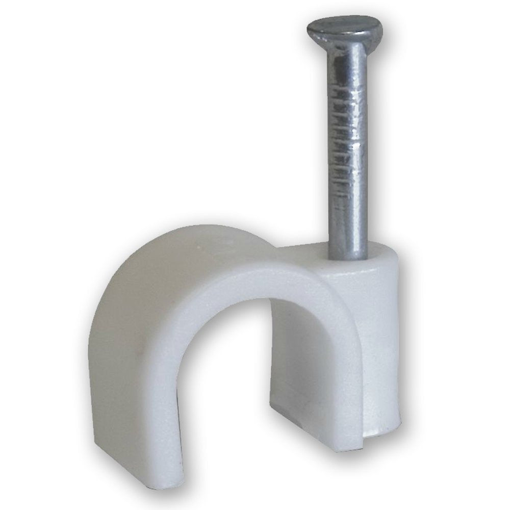 Round Cable Clip - White - RKL Tools & Hardware