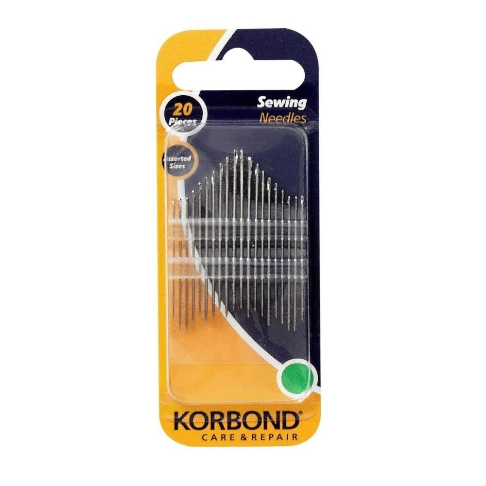 Korbond - 20 Piece Assorted Size Sewing Needles
