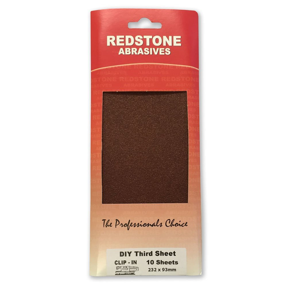 Redstone - DIY Third Sanding Sheets - Clip On - RKL Tools & Hardware  - 1