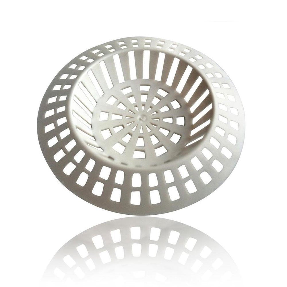 White Plastic Sink Strainer - Large