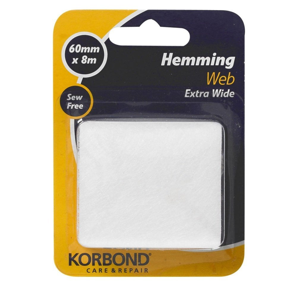 Korbond - Extra Wide Hemming Web 60mm x 8m - RKL Tools & Hardware