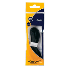 Korbond - Black Polyester Elastic 12mm by 2 meters - RKL Tools & Hardware